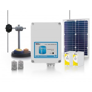 15km SOLAR POWERED WIRELESS SYSTEM FOR REMOTE CONTROL OF A PUMP BY A WATER TANK