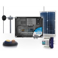 20km SOLAR POWERED 169MHz WIRELESS SYSTEM FOR REMOTE CONTROL OF A PUMP BY A WATER TANK